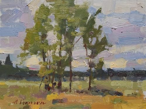 "Daily Paintworks - ""Afternoon Treestand"" - Original Fine Art for Sale - © Marc Hanson"