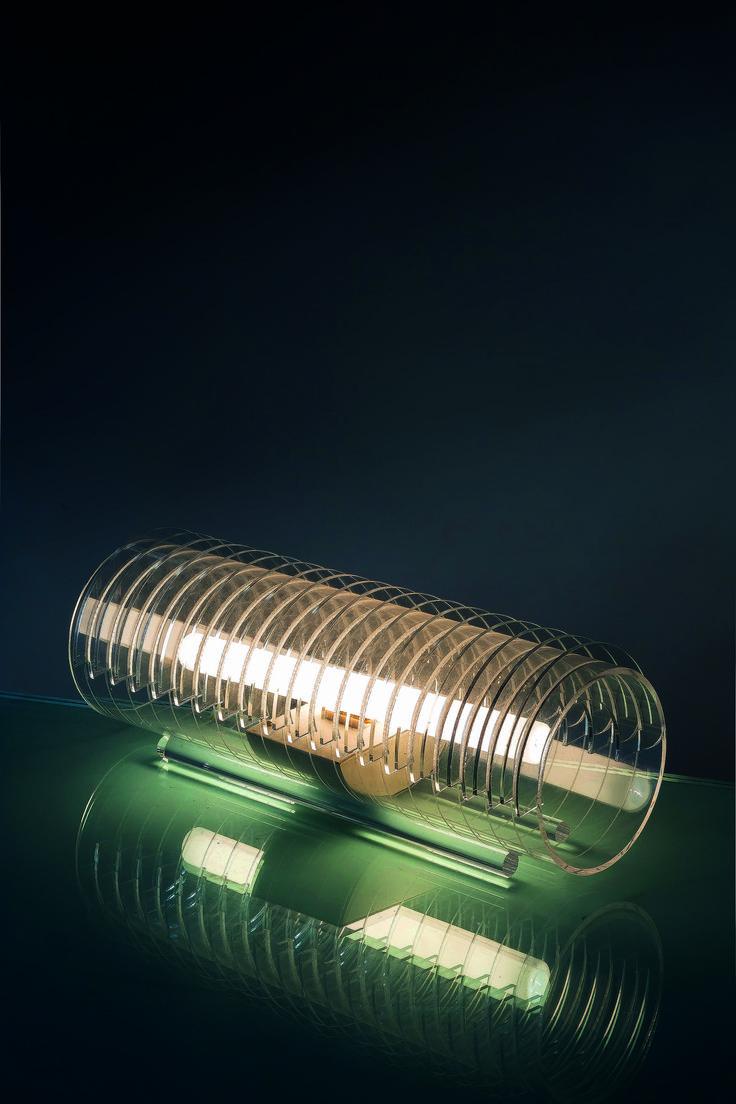 Ugo La Pietra; Perspex 'Zama Elettronica' Table Lamp for Poggi, 1967.