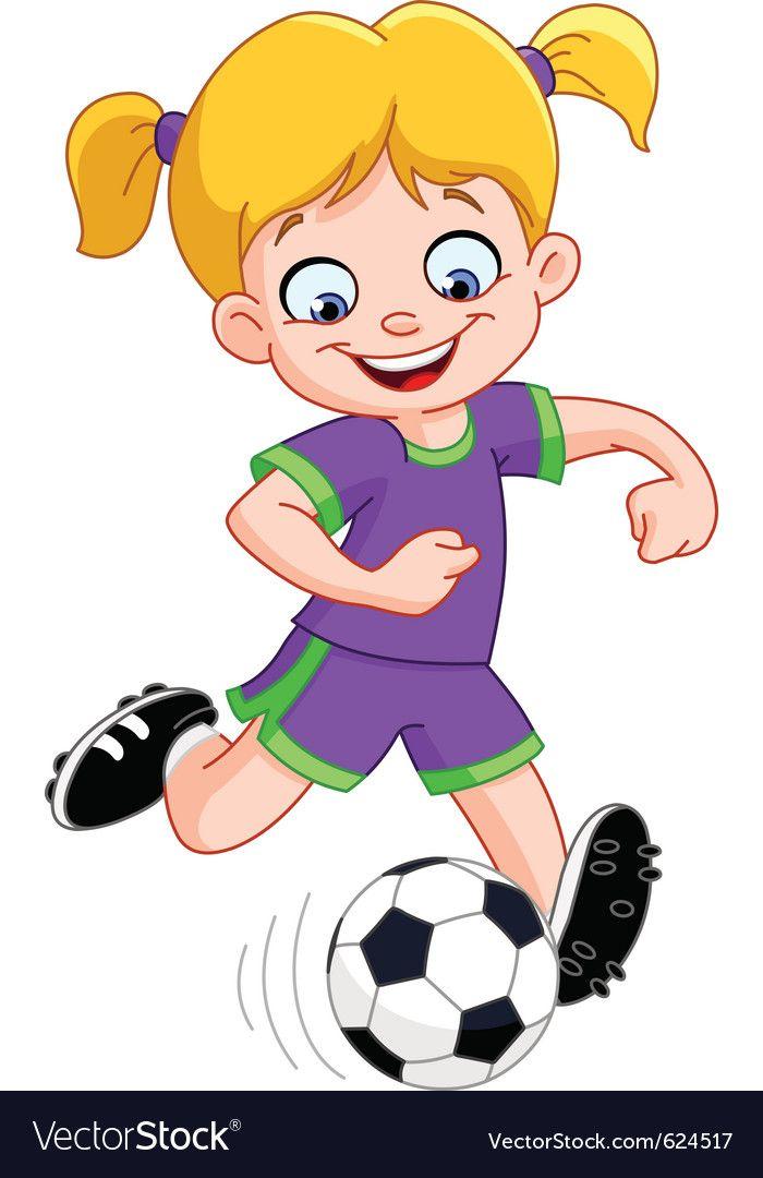 Soccer Girl Vector Image On Vectorstock In 2020 Girl Playing Soccer Soccer Girl Play Soccer