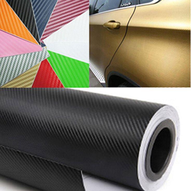 #AliExpress 60CM Wide Waterproof Car Motorcycle Stickers Car Styling 3D 3M Carbon Fiber Vinyl Wrapping Film Car Accessories fibra de carbono (32788166613) #SuperDeals