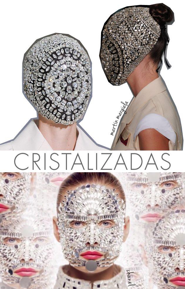Cristal, rosto, Chanel, Margiela, Couture, Beauté, Cristais, Allure, video, maquiagem, Mirror mirror, tendência, trend