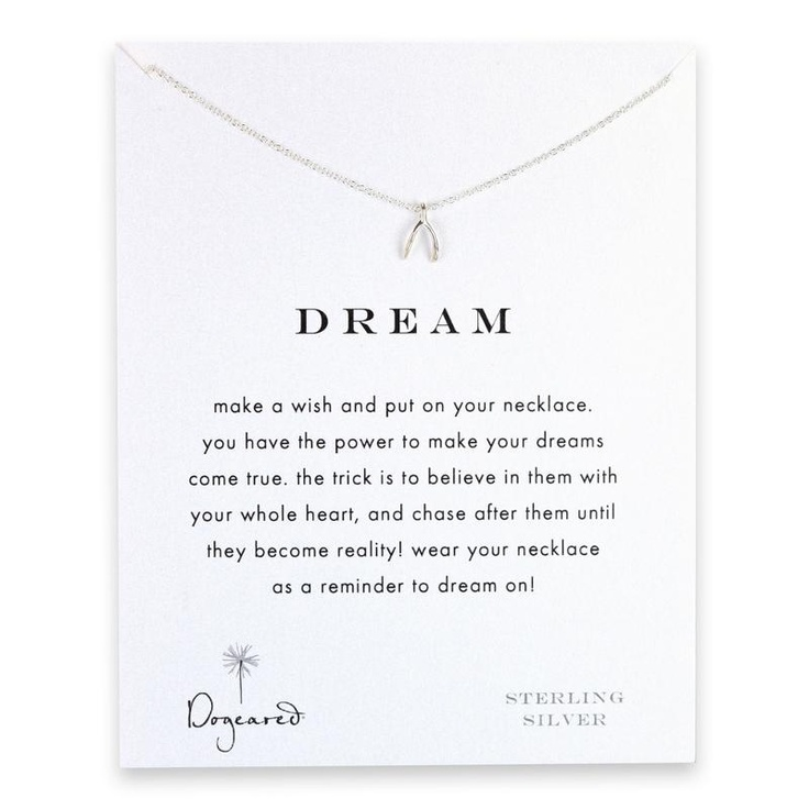 Dogeared Silver Dream Wishbone Necklace at aquaruby.com