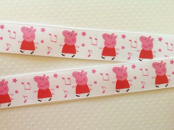 1 mt Peppa Pig white background and music notes by Bowerbirdys, $1.50