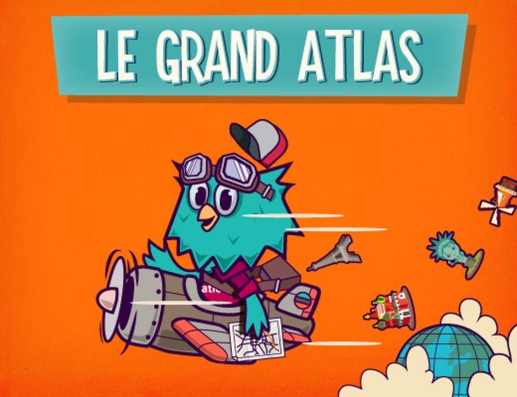 Le Grand Atlas est un jeu interactif en ligne pour apprendre la géographie en s'amusant et découvrir où se placent les capitales, les pays et les monuments du monde entier.