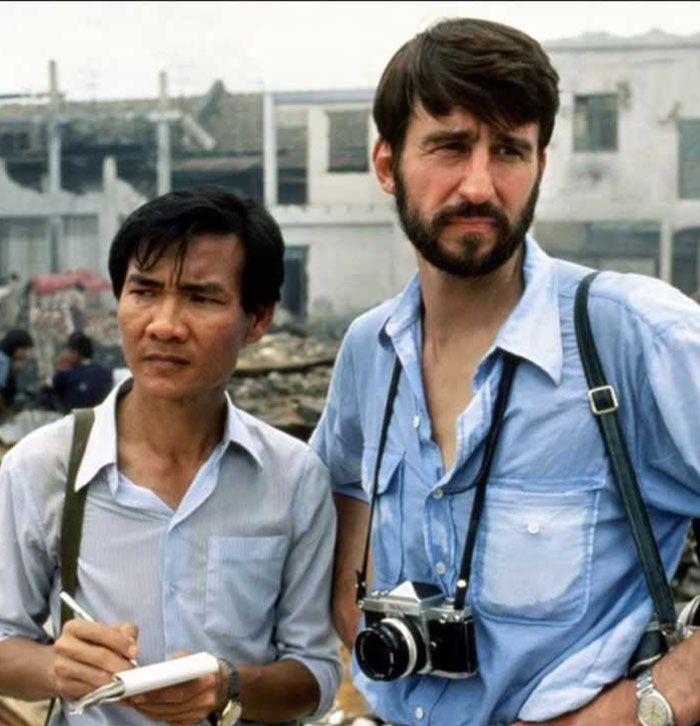 """Sam Waterston y Haing S. Ngor en """"Los Gritos del Silencio"""" (The Killing Fields), 1984"""