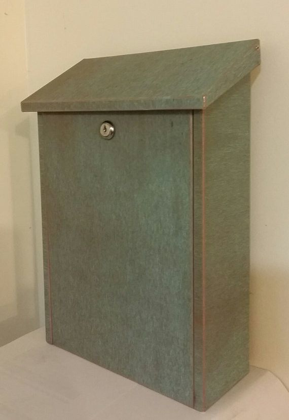 Large green patina copper mailbox