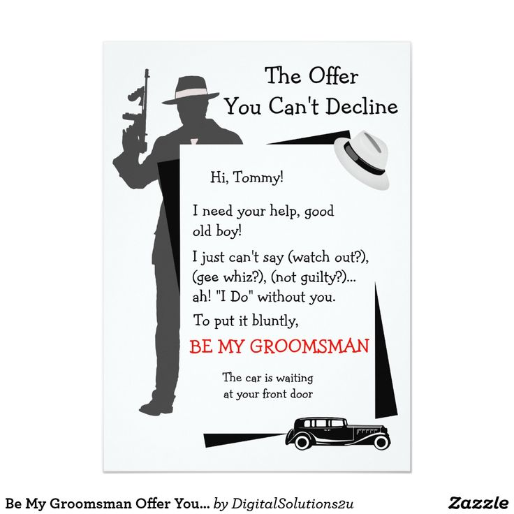 Be My Groomsman Offer You Canu0027t Decline Card