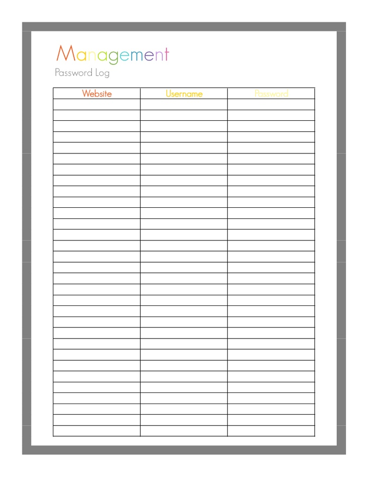 photograph about Password List Printable identify Totally free Printable Pword Record - Totally free Down load