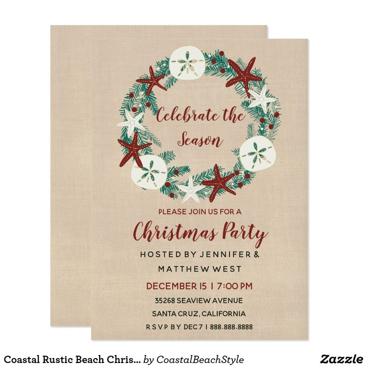 381 best Christmas Party Invitations images on Pinterest | Christmas ...
