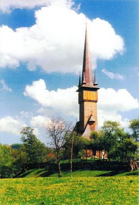"ROMANIA (Maramureş) - The wooden Church in Plopiş - part of ""Wooden churches of Maramureş"" (UNESCO WHS)"