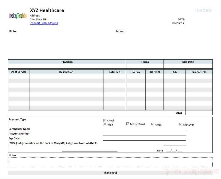Medical Invoice Template (2)