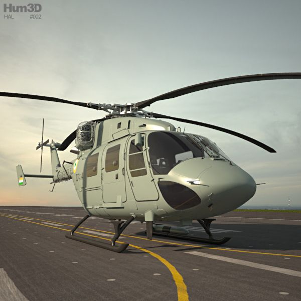 HAL Dhruv 3d model from Hum3D.com.