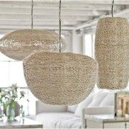 Burlap Tropical Pendant Light #decor #lighting #renovation #renovation #blog #interiordesign Regina Andrew Pendant Lamps