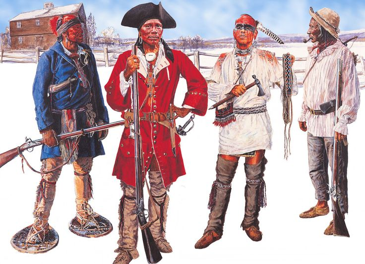 Abenaki tribal warriors during the French and Indian War