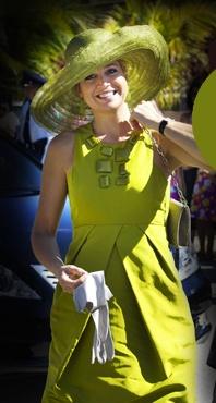 groene jurk Maxima