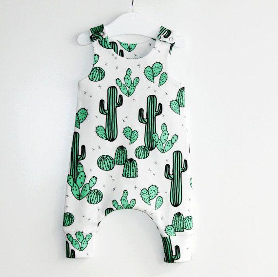 Cactus & Prickly Pears baby romper,toddler romper,kids romper,romper,organic romper,baby clothes,organic baby clothes,organic cotton,hipster