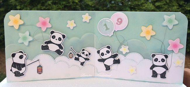 Stampin' Wonderland: パンダ&バルーン バースディカード