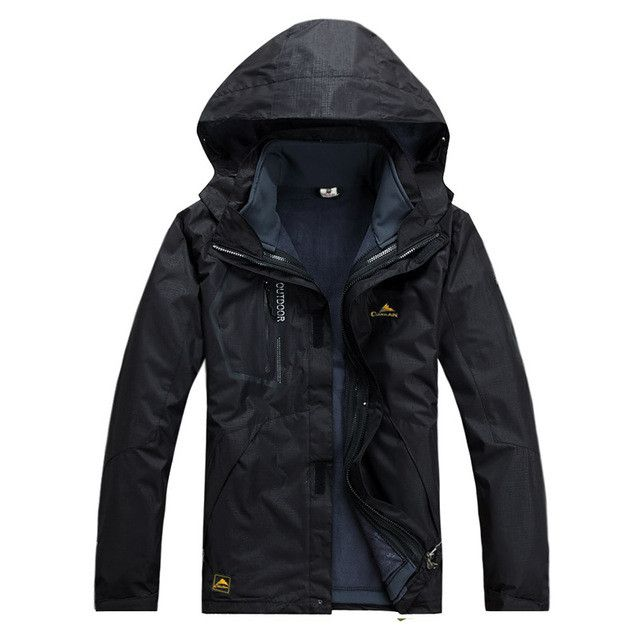 High Quality 3 In 1 Men Outdoors Winter Water Resistant Coats Jacket Outerwear Hoodied Climb Snow Windstopper Jackets CKL2188