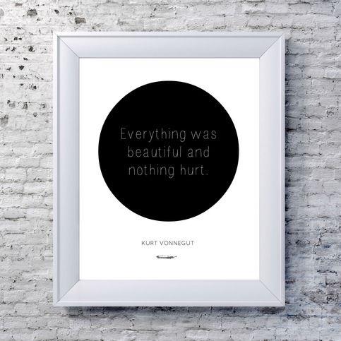 Kurt Vonnegut Print - Circle Art Typography Print from NeverMore