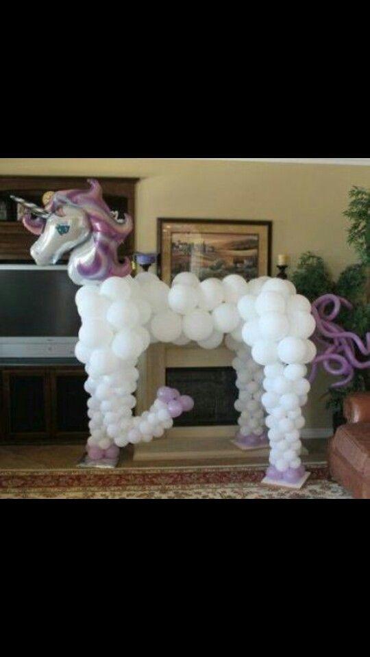 Balloon unicorn balloon decor pinterest unicorns for Animal decoration games for girls