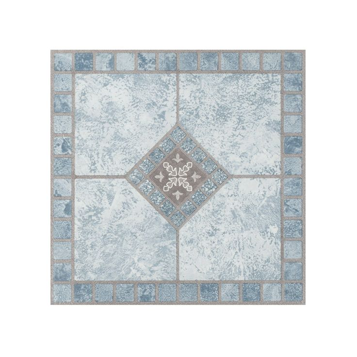 Portfolio 12x12 2 0mm Self Adhesive Vinyl Floor Tile Blue Diamond 9 Tiles 9 Sq Ft Achim Luxury Vinyl Tile Vinyl Tile Luxury Vinyl