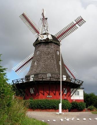 The old mill in Tranekær Pinned by Æblegaarden B&B, Langeland, Denmark, www.aeblegaarden.dk