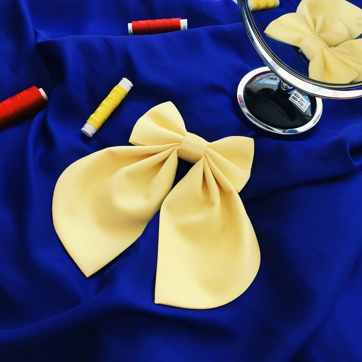 Yellow Matte Women's Bow Tie Genuine New The perfect accessory for your dress, shirt, T-Shirt and more. #bowsbyvaniaszasz #fashionstyle #handmade #etsy