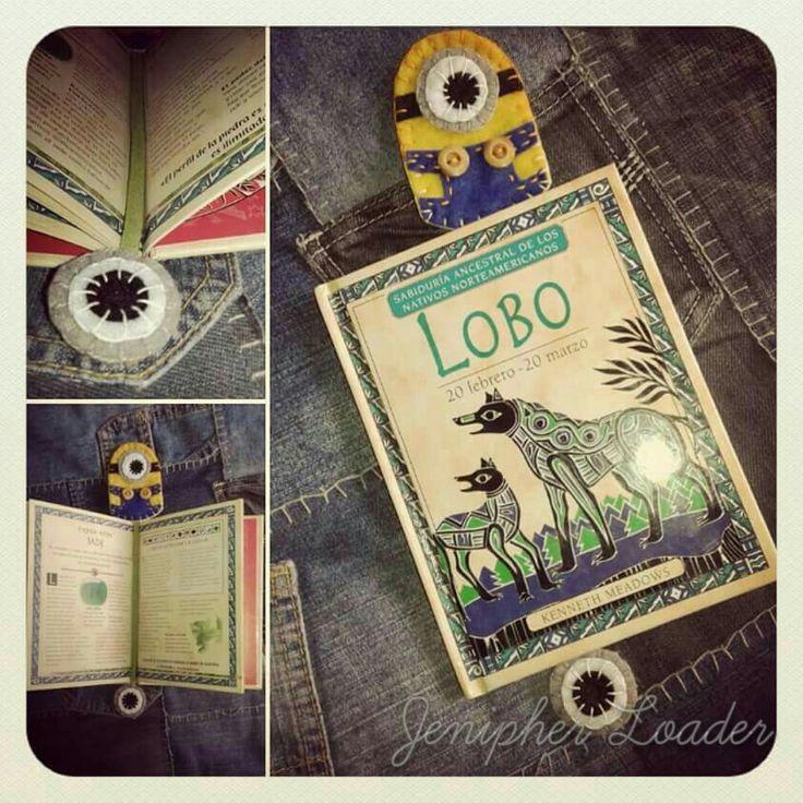Bookmark Minions fieltro felt feltro felting craft diy