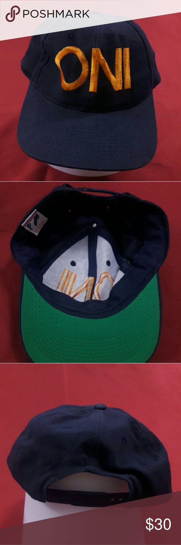 Naval Intelligence Baseball Cap ONI Very Good Condition!  One Size. Adjustable.  Please, review pics. Contact me if you have questions. Smoke/Pet free home. Toppers Accessories Hats