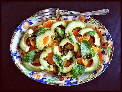 salada de tangerina & abacate   [com molho de jalapeño]