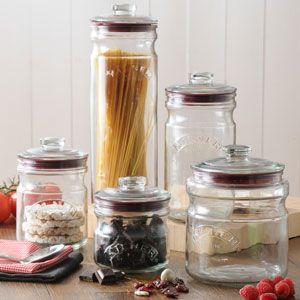 Bocal hermétique en verre (5 tailles) Push Top Jar Kilner