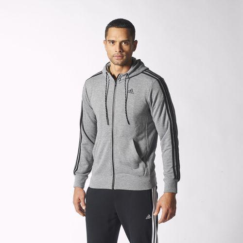 Jaqueta com Capuz Moletom Essentials 3S Masculina - Cinza adidas | adidas Brasil
