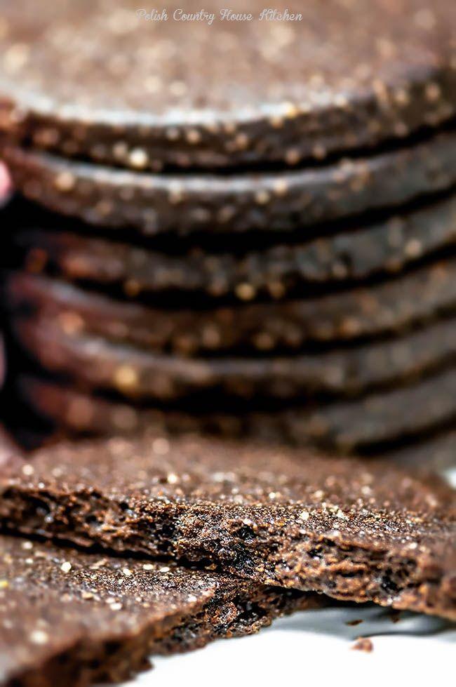 Najlepsze diabelsko czekoladowe kruche ciasteczka ,ciasteczka jak oreo.