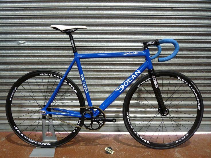 Blue Dolan track bike