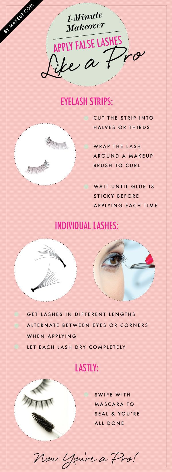 how to apply false lashes // love these for a little instant glam #makeup