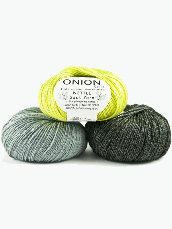 ONION Nettle Sock Yarn mieszanka wełny superwash i pokrzywy, trwała, wytrzymała i w 100% naturalna