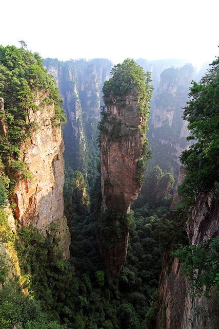 Inspiration for the floating islands in Avatar, Zhangjiajie, China