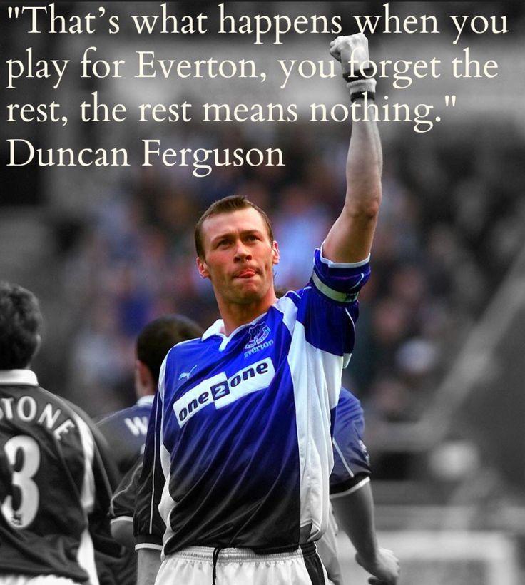 Duncan Ferguson living Everton Legend - Perhaps a future manager for Everton. #DuncanFerguson #Everton