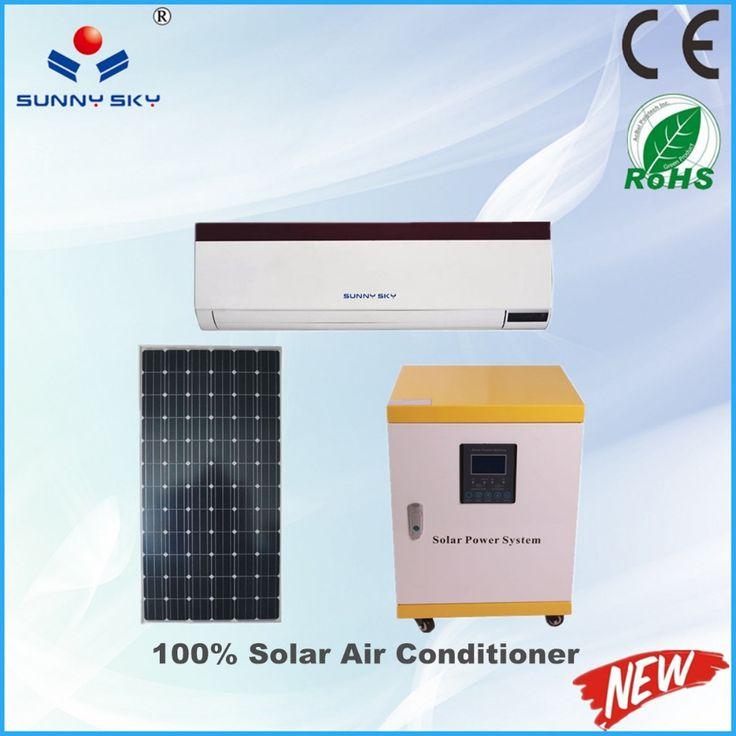 CE ROHS 12000btu hybrid solar air conditioner price 100% solar powered car air conditioners#solar air conditioner price#airness