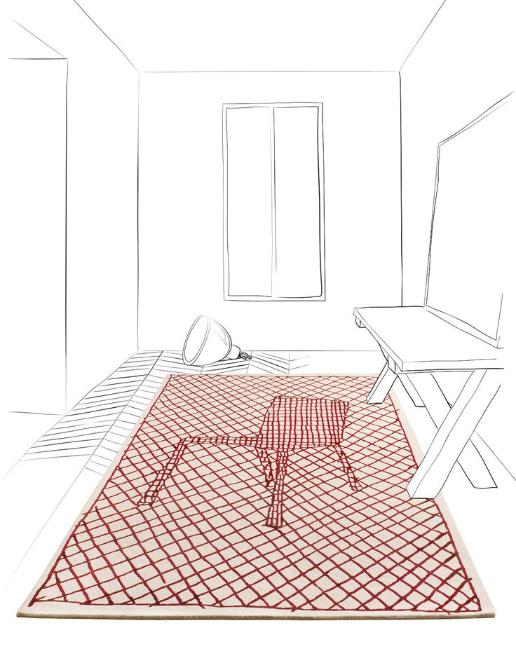 地毯 LA CHAISE by Toulemonde Bochart 设计师François Azambourg