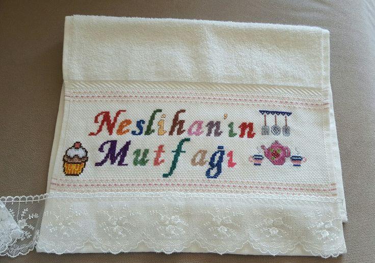 Mutfak havlusu-cross stitch towel