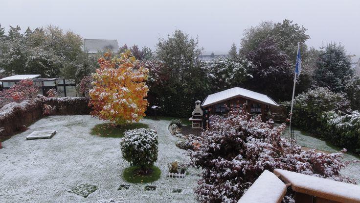 Wintereinbruch Mitte Oktober in Muscheid-Country
