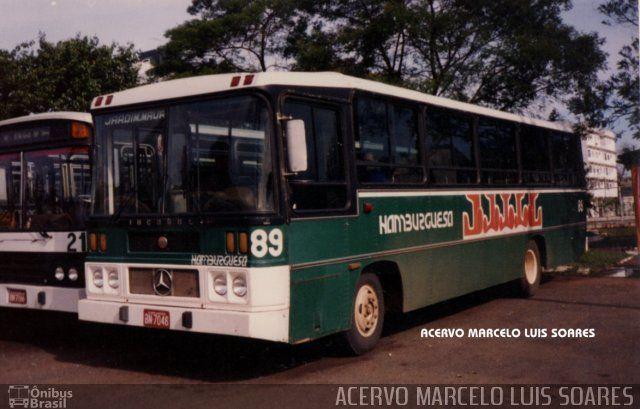 Ônibus da empresa Viação Hamburguesa, carro 89, carroceria Incasel Cisne Intermunicipal, chassi Mercedes-Benz OF-1113. Foto na cidade de Novo Hamburgo-RS por ACERVO MARCELO LUIS SOARES, publicada em 19/08/2016 15:39:24.