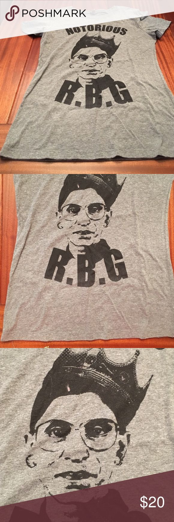 Notorious RBG shirt BNWOT Notorious R.B.G shirt from D.C. women's March Tops Tees - Short Sleeve