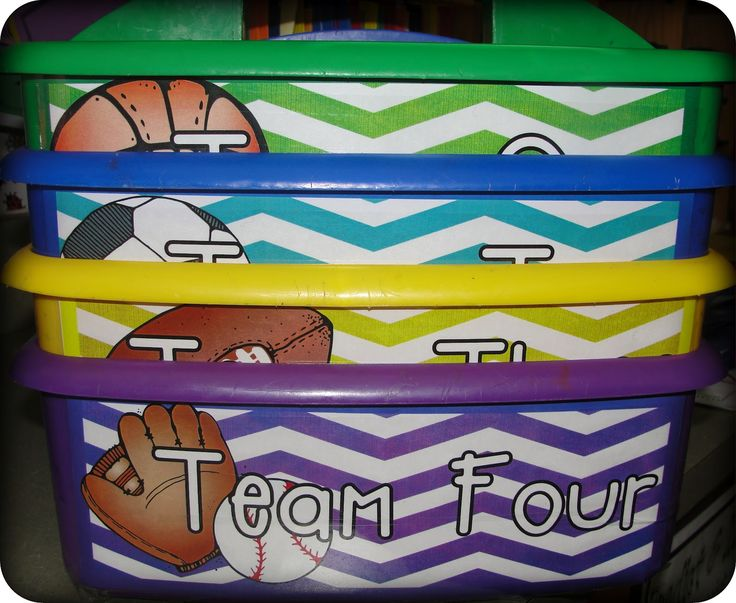 sports theme classroom | ... out my table buckets and put new labels to fit our sports theme