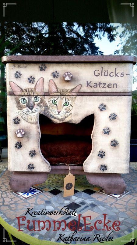 "Katzenschlafschrank ""Forever and Ever"""