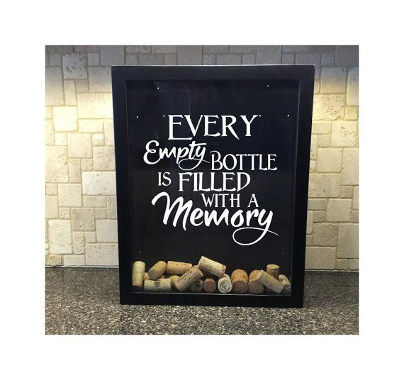 every empty bottle is filled with a memory wine by decalphanatics - Wine Picture Frames