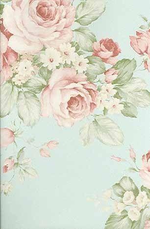 soft english rose wallpaper shabby chic vintage decor