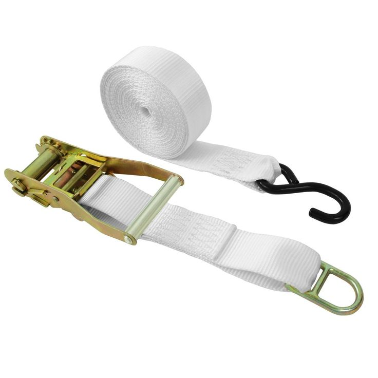 2 inch ratchet tie downwith double d ring and s hook s