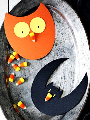 Easy Halloween Crafts - Easy Halloween Candy Corn Crafts at WomansDay.com - Woman's Day
